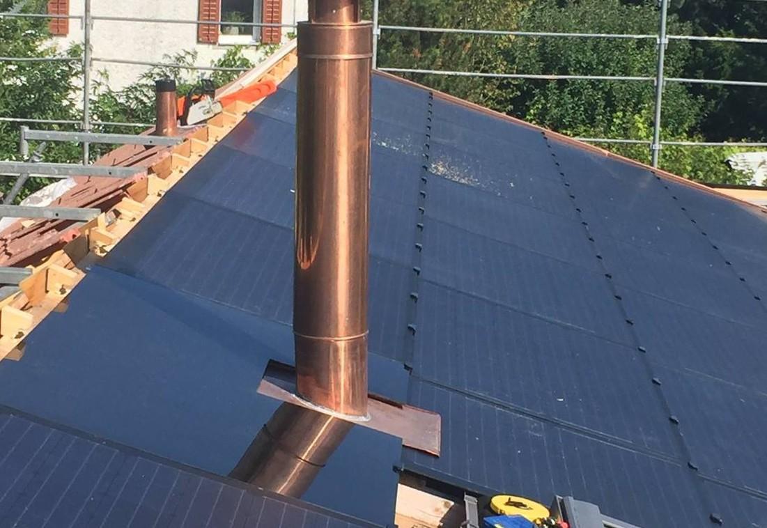 Dachsanierung, Montage PV-Anlage