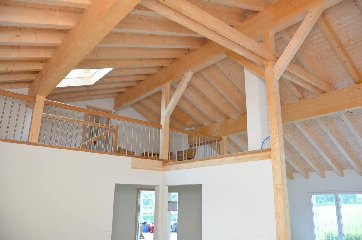 Sichtbare Dachkonstruktion, Steiner in Alpthal