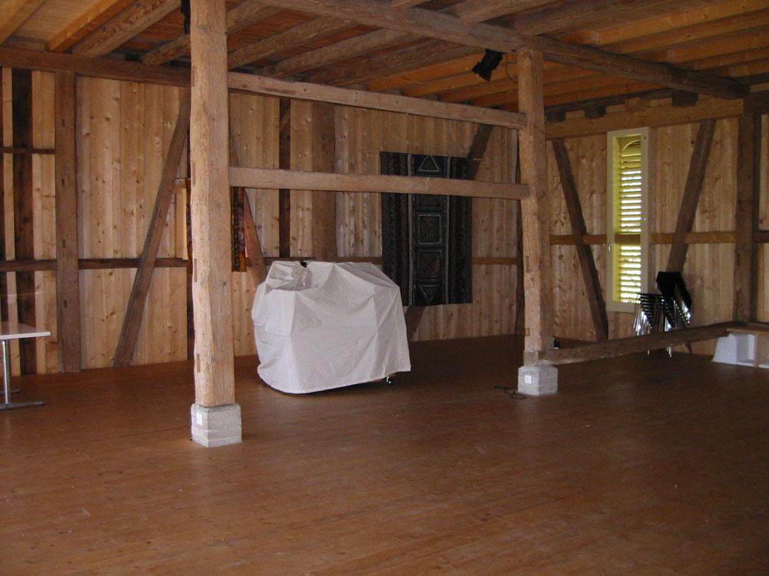 Sanierung Innenraum vom Stall in Ausstellungraum