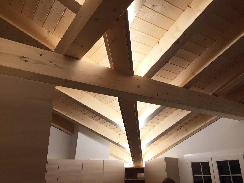 Dachkonstruktion indirekt beleuchtet