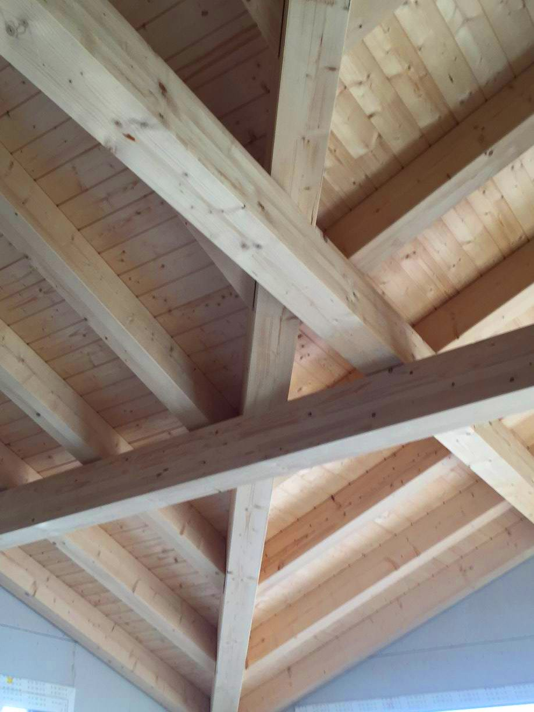 Sichtbare Dachkonstruktion